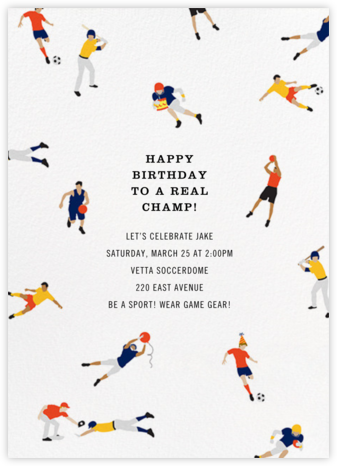 Birthday of Champions - Cheree Berry - Sporting Event Invitations