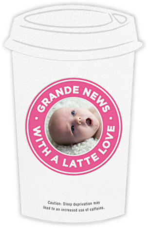 Fresh Brewed - Pink - Cheree Berry Paper & Design - Birth Announcements