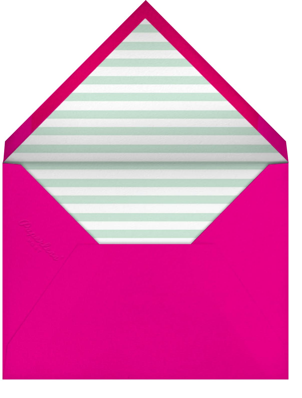 A Bear in the Tent - Pink - Mr. Boddington's Studio - Kids' birthday - envelope back