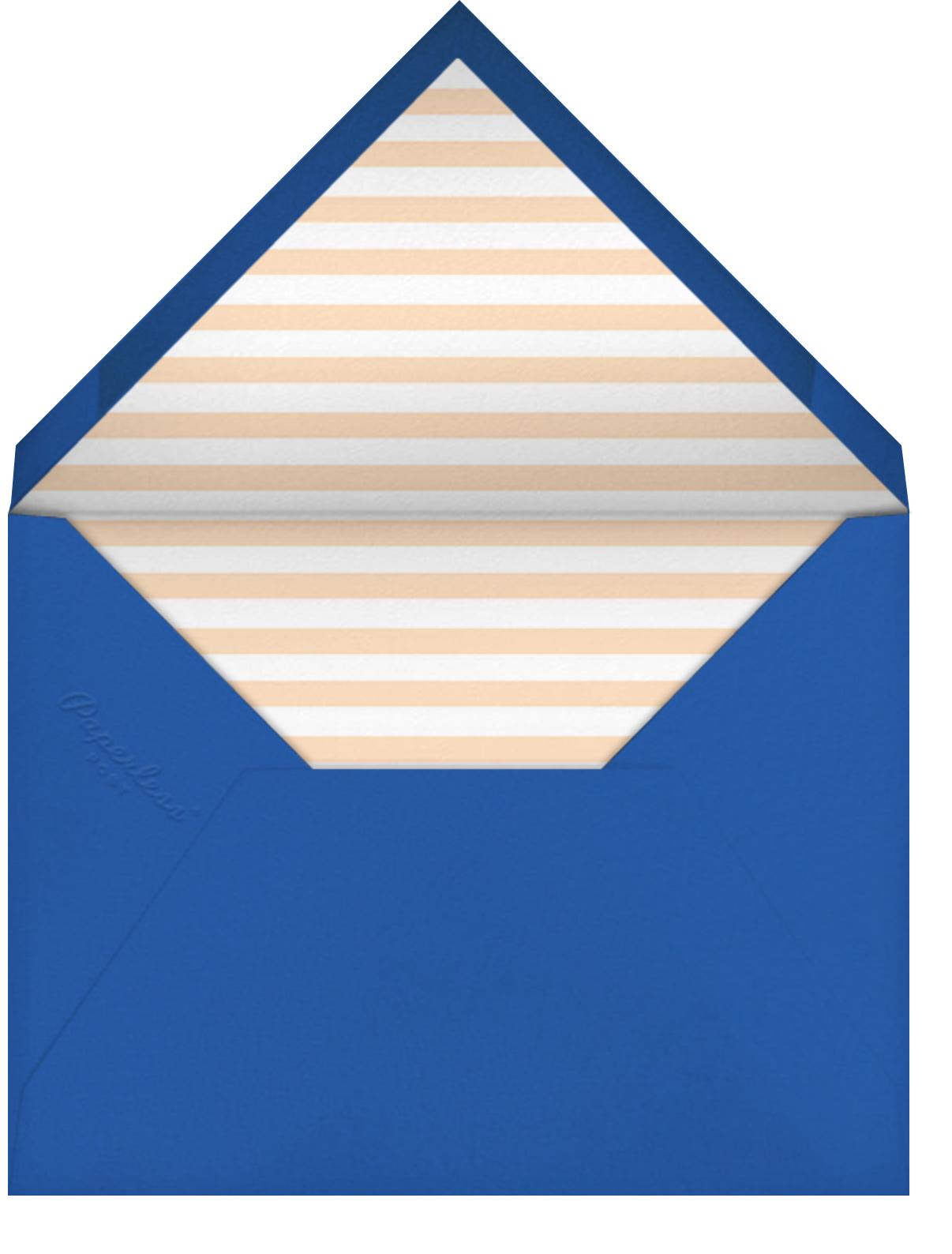 A Bear in the Tent - Blue - Mr. Boddington's Studio - Kids' birthday - envelope back