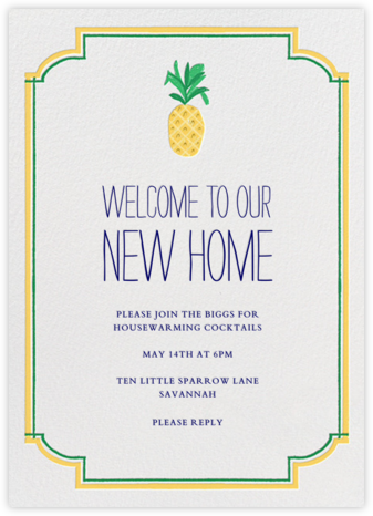 Welcome to Our New Home - Mr. Boddington's Studio - Celebration invitations