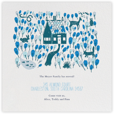 Red Riding Hood's New Home - Blue - Mr. Boddington's Studio - Announcements