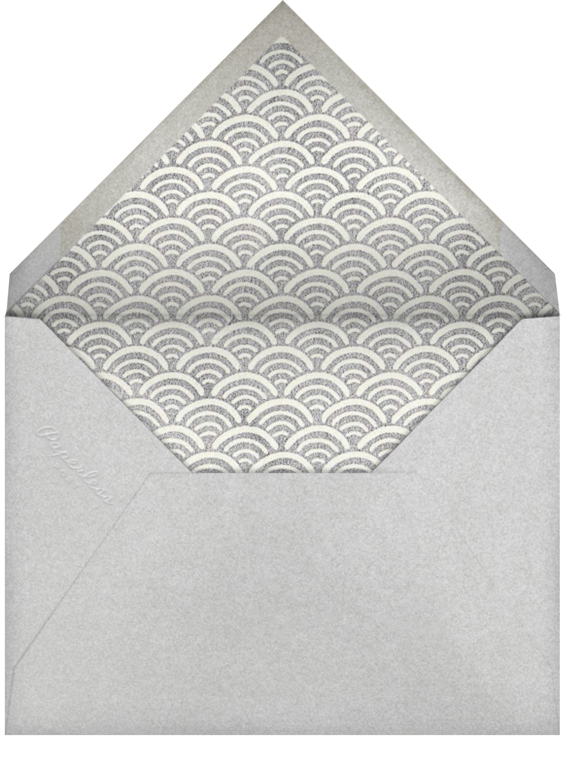 Indigo with Silver (Square) - Paperless Post - Bar and bat mitzvah - envelope back