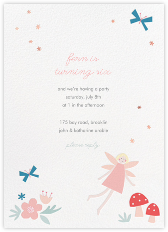 Fairy Nice - Meringue - Meri Meri - Online Kids' Birthday Invitations