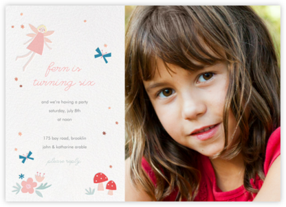 Fairy Nice Photo - Meringue - Meri Meri - Online Kids' Birthday Invitations
