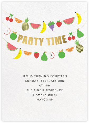 Fruit Bunting - Meri Meri - Birthday invitations