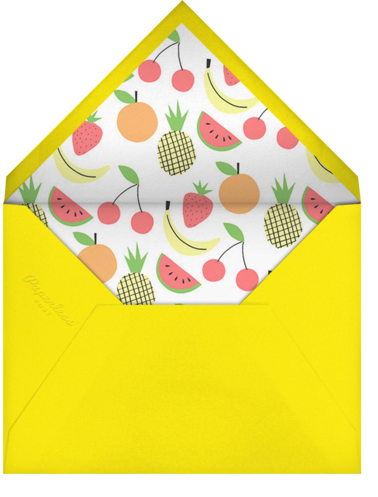 Fruit Bunting - Meri Meri - Kids' birthday - envelope back