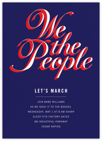 Indivisible - Paperless Post - Inauguration Invitations