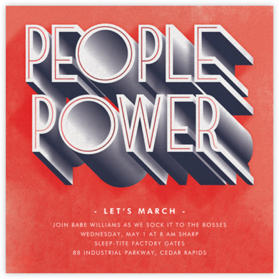 People Power - Paperless Post - Political action