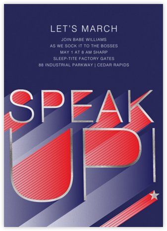 Speak Up - Paperless Post - Political action