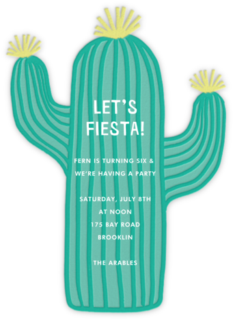 Cactus Hour - Meri Meri - Online Kids' Birthday Invitations