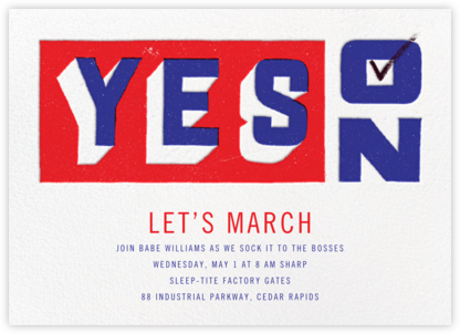 Vote Yes - Paperless Post - Inauguration Invitations