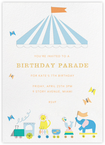 Circus Circus - Meri Meri - Birthday invitations