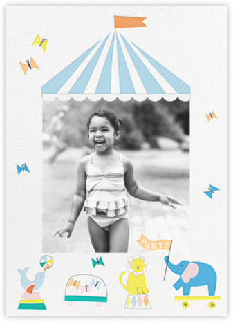 Circus Circus Photo - Meri Meri - Online Kids' Birthday Invitations