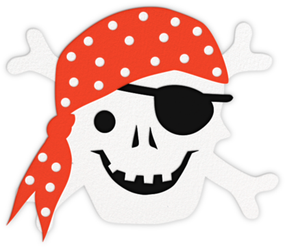 Jolly Roger - Meri Meri - Online Kids' Birthday Invitations