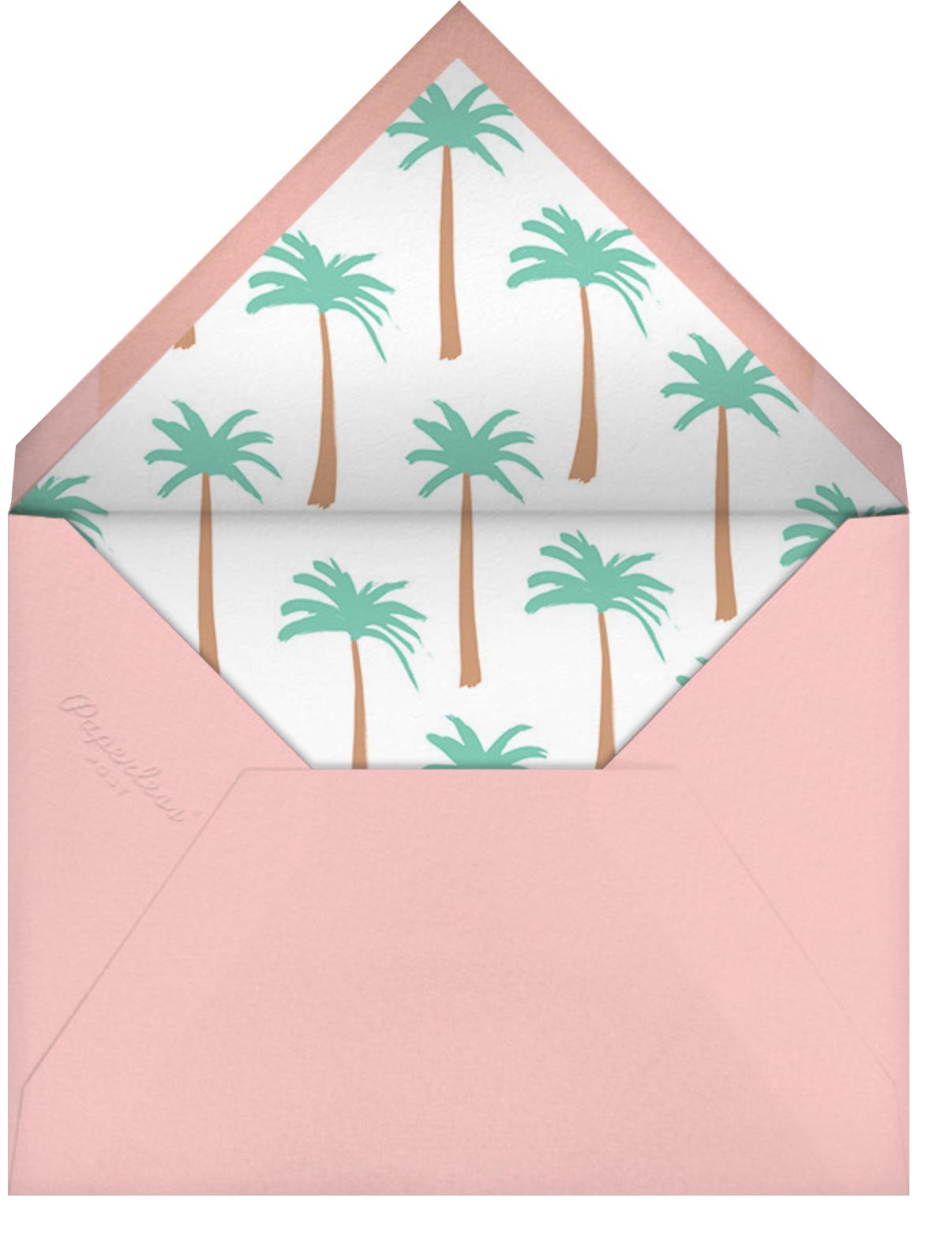Let's Flamingle - Meri Meri - Kids' birthday - envelope back