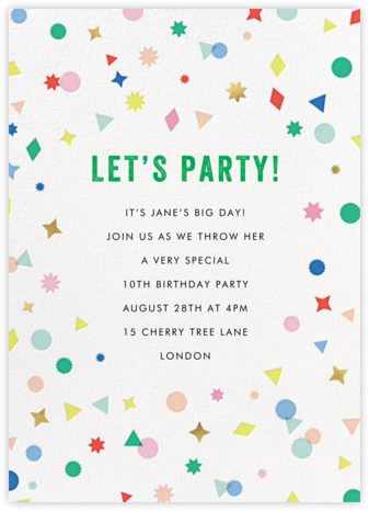 Little Charmers - Meri Meri - Birthday invitations