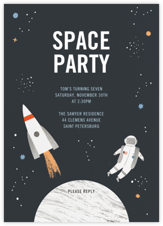 Space Case - Meri Meri - Kids' Birthday Invitations