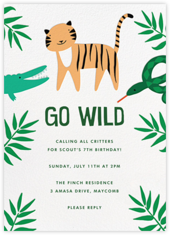 The Jungle Bunch - Meri Meri - Birthday invitations