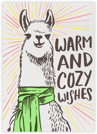 Peace and Alpacas - Hello!Lucky - Holiday cards