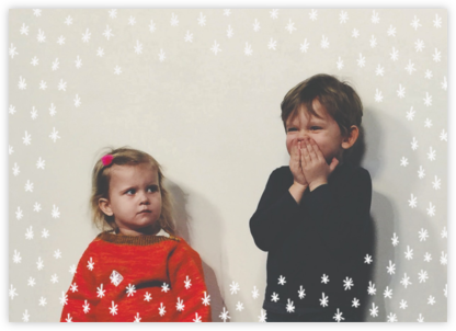 White Stars (Horizontal) - Linda and Harriett - Holiday cards