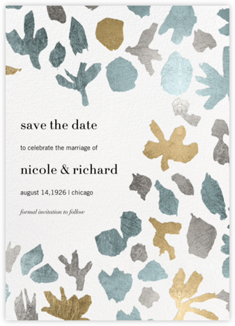 Awry - Kelly Wearstler - Gold and metallic save the dates