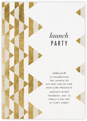 Tilt - Gold - Kelly Wearstler - Winter entertaining invitations