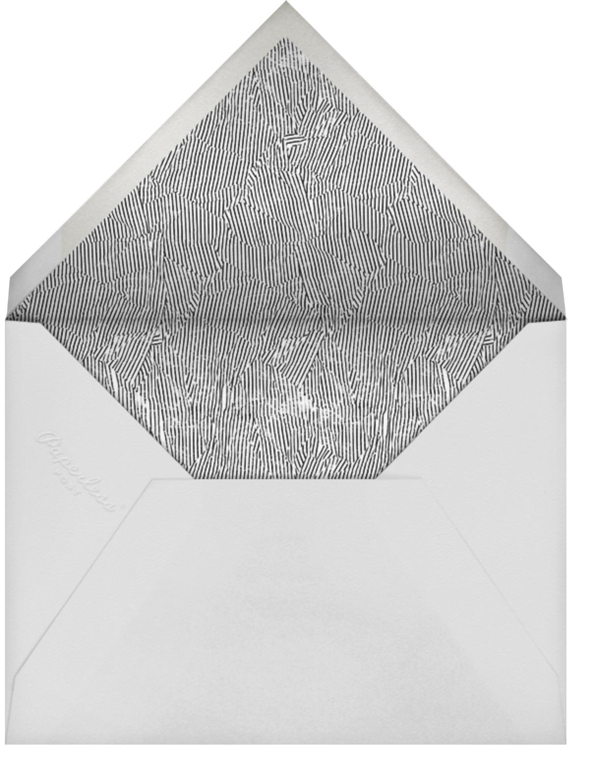Tilt - Gold - Kelly Wearstler - Save the date - envelope back