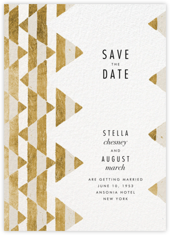 Tilt - Gold - Kelly Wearstler - Modern save the dates