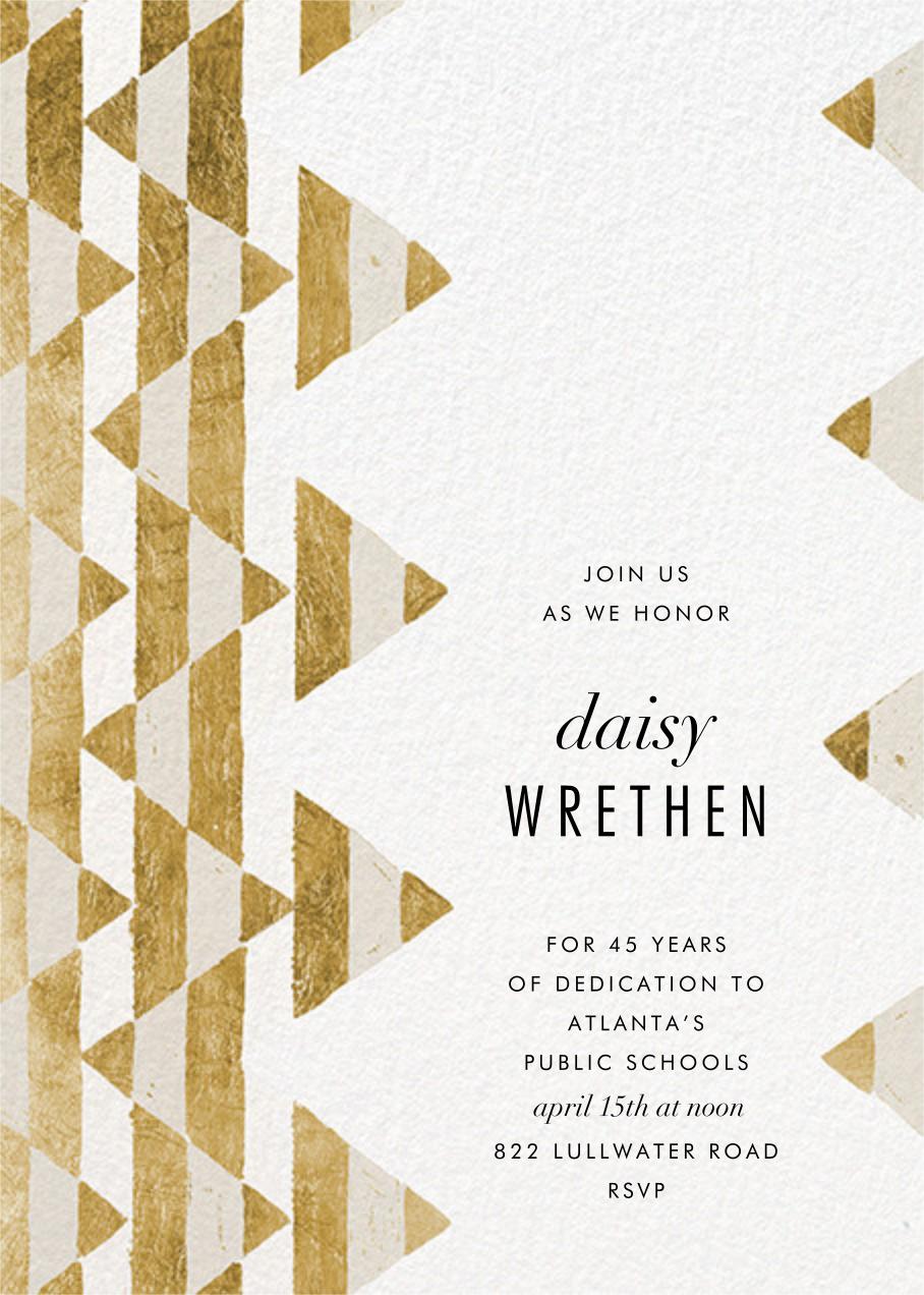 Tilt - Gold - Kelly Wearstler - Retirement invitations, farewell invitations