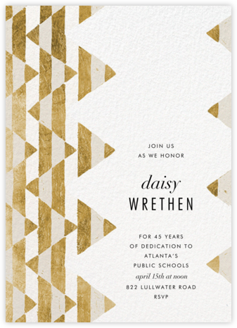 Tilt - Gold - Kelly Wearstler - Retirement invitations, farewell invitations