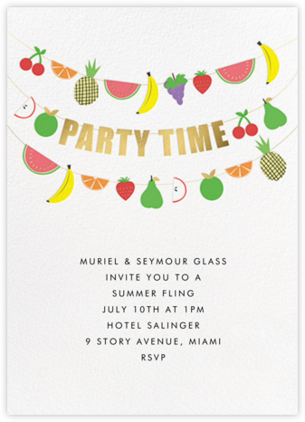 Fruit Bunting - Meri Meri - Summer Party Invitations