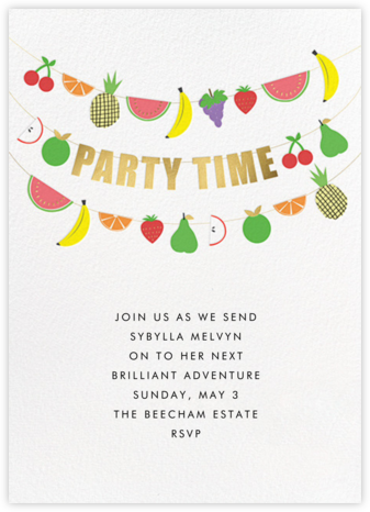 Fruit Bunting - Meri Meri - Farewell party invitations