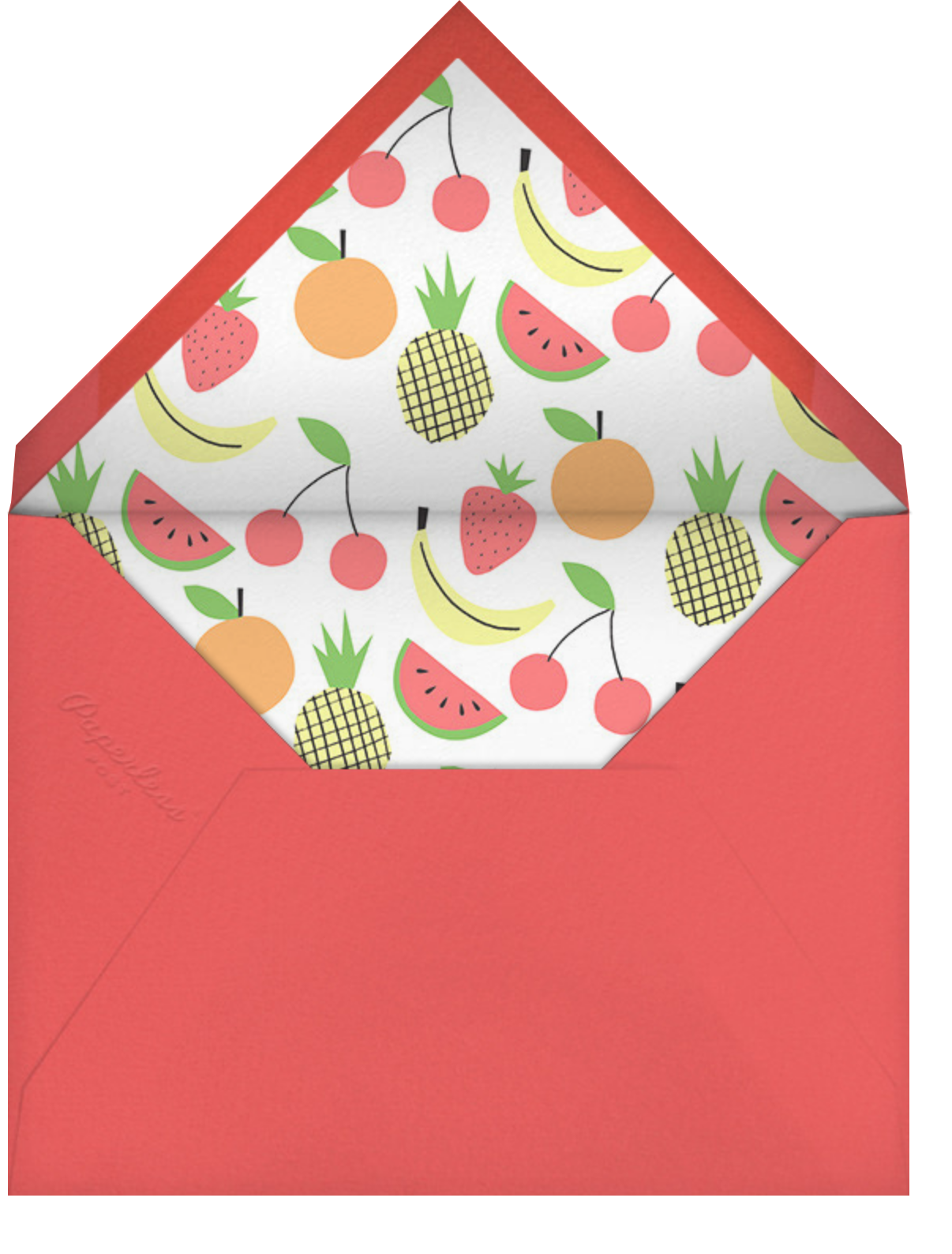 Fruit Bunting - Meri Meri - Bachelorette party - envelope back