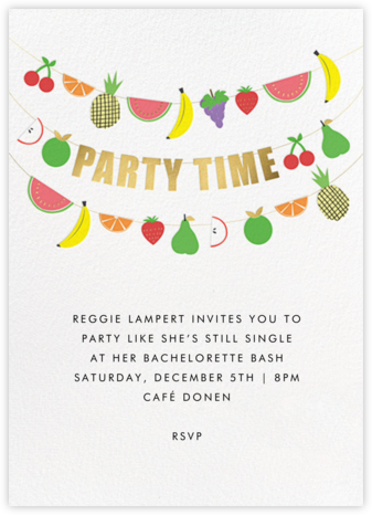 Fruit Bunting - Meri Meri - Bachelorette party invitations