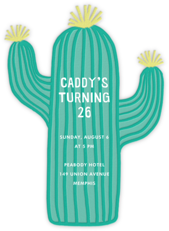 Cactus Hour - Meri Meri - Adult Birthday Invitations