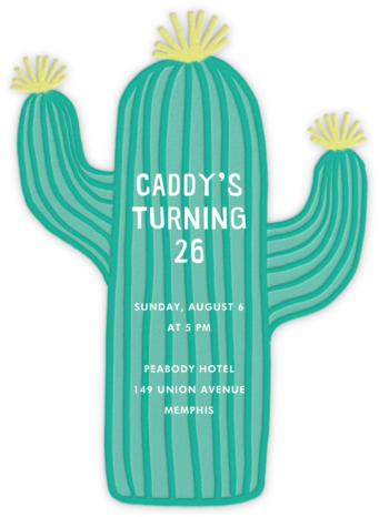 Cactus Hour - Meri Meri - Adult Birthday Invitations
