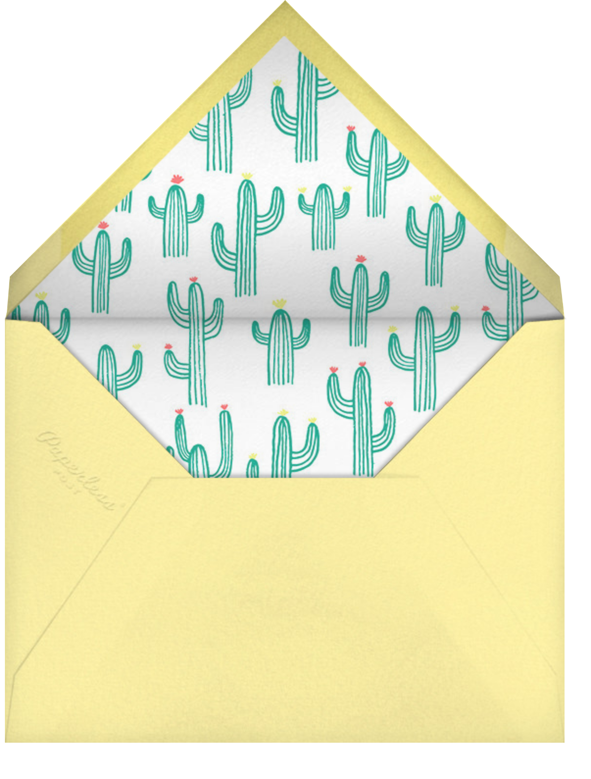 Cactus Hour - Meri Meri - Summer entertaining - envelope back