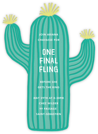 Cactus Hour - Meri Meri - Bachelorette party invitations
