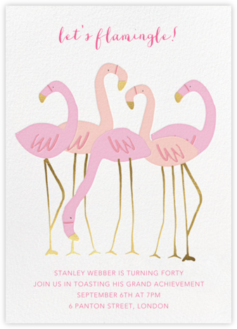 Let's Flamingle - Meri Meri - Adult Birthday Invitations