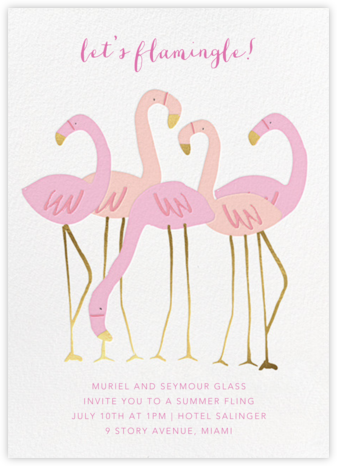 Let's Flamingle - Meri Meri - Casual Party Invitations