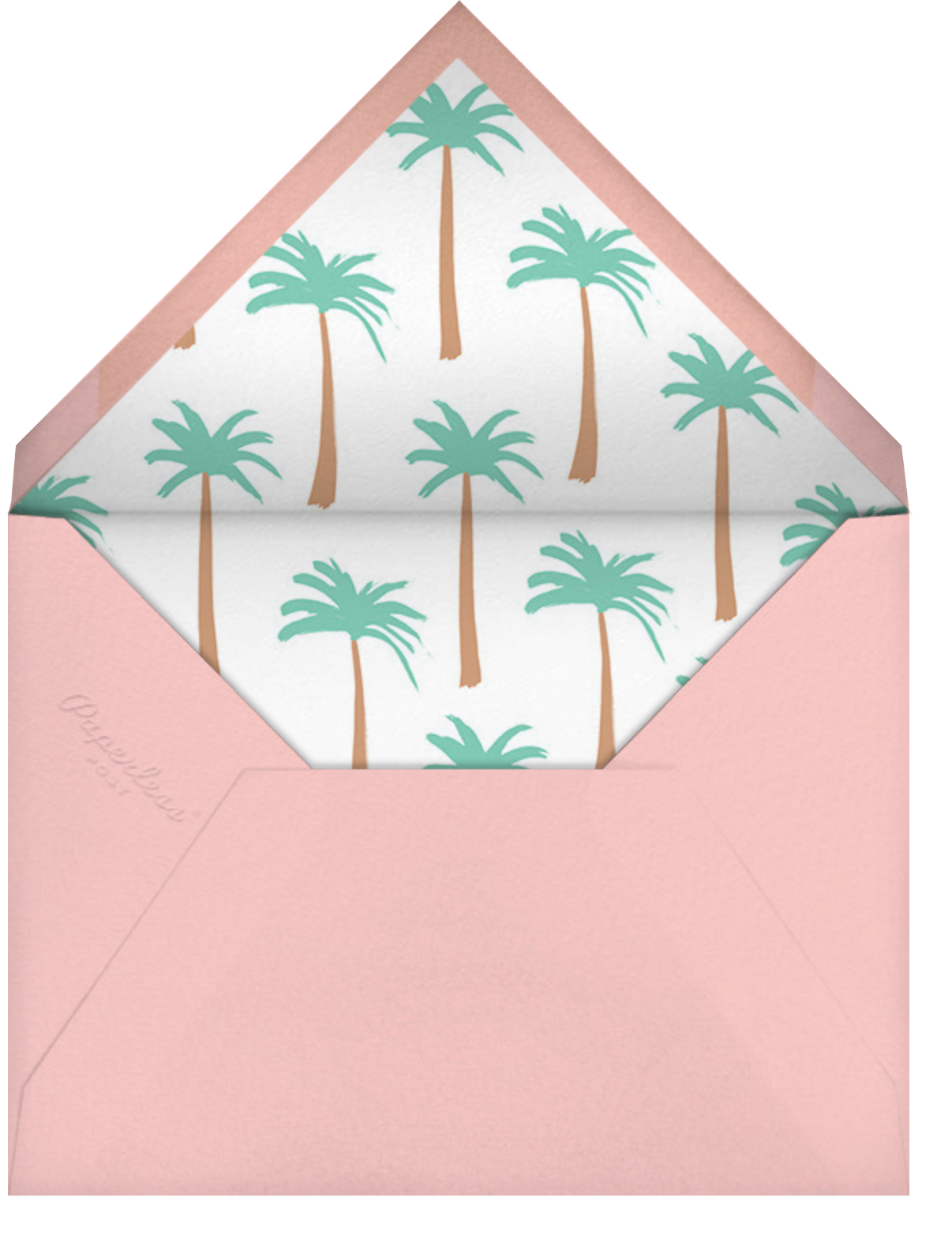 Let's Flamingle - Meri Meri - Bridal shower - envelope back