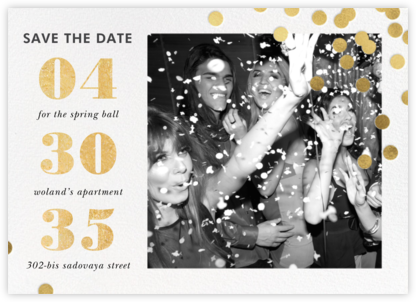 Confetti Ceremony - kate spade new york - Before the invitation cards