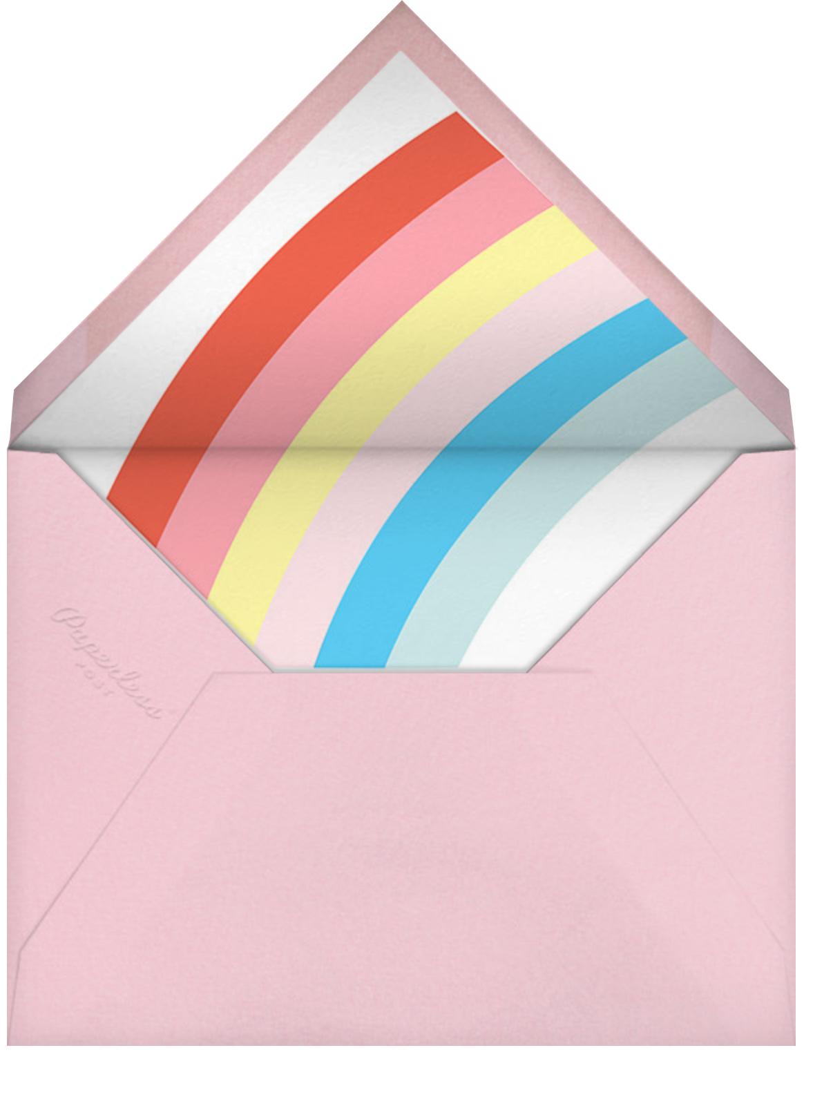 Unicorn Weather - Meri Meri - Kids' birthday - envelope back
