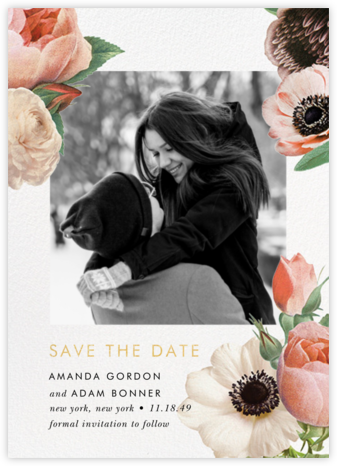 Floral Collage Photo - kate spade new york - Save the dates