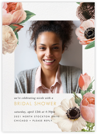 Floral Collage Photo - kate spade new york - Bridal shower invitations