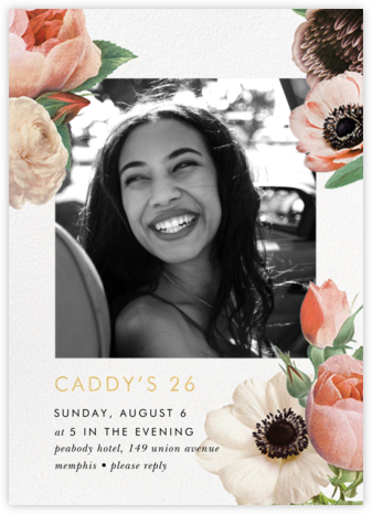 Floral Collage Photo - kate spade new york - Adult Birthday Invitations