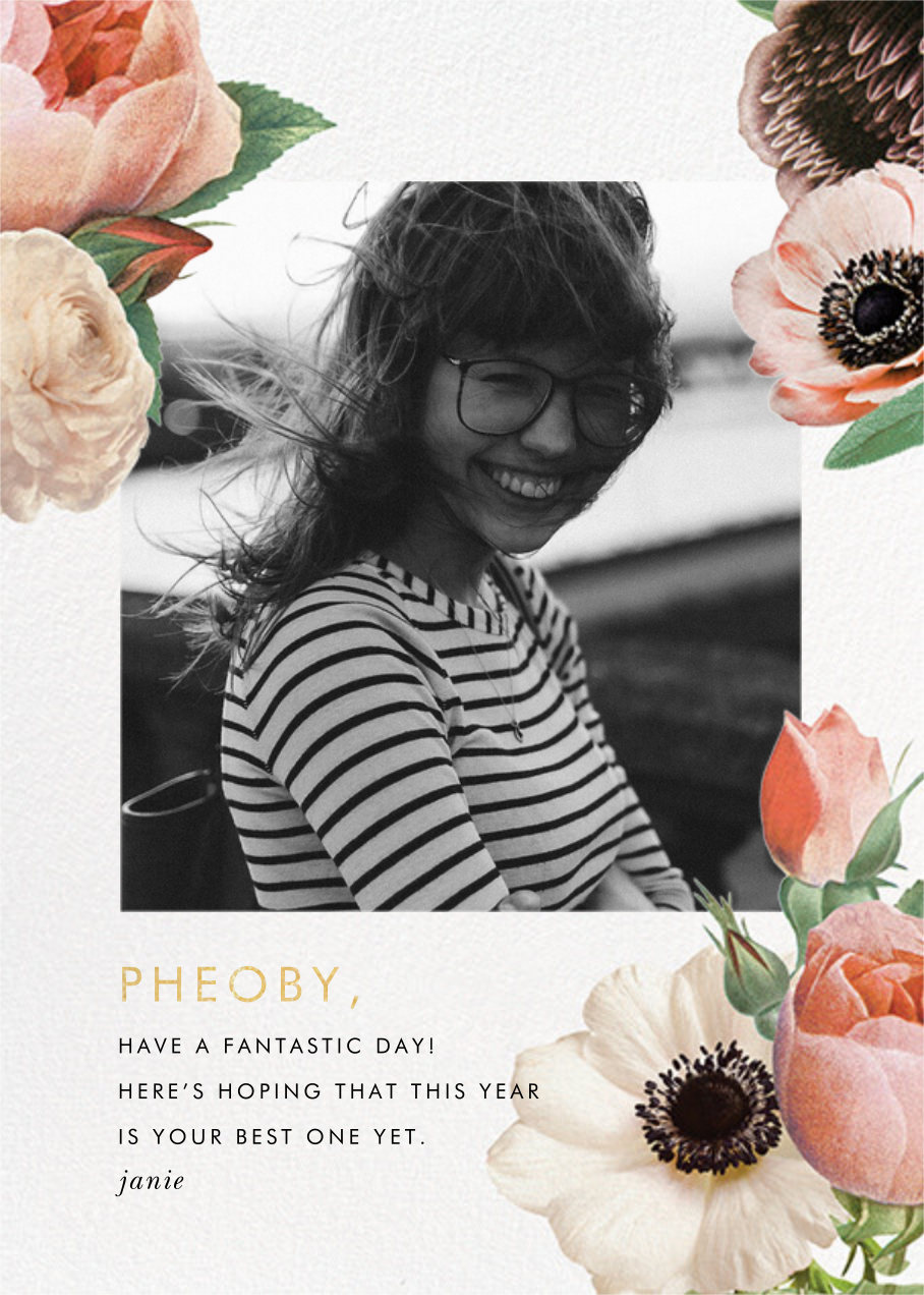 Floral Collage Photo - kate spade new york - Greeting cards