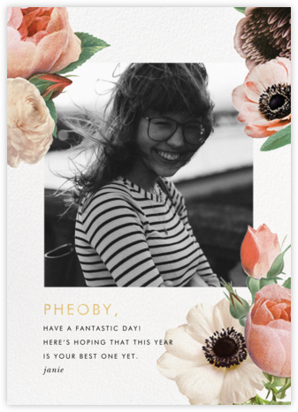 Floral Collage Photo - kate spade new york - Kate Spade invitations, save the dates, and cards
