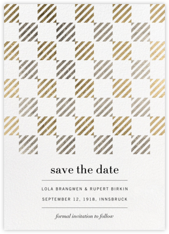 Plait - Kelly Wearstler - Modern save the dates